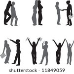 vector collection. silhouettes. | Shutterstock .eps vector #11849059