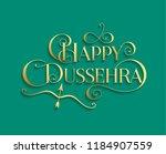 golden text calligraphic... | Shutterstock .eps vector #1184907559
