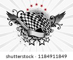 the final flag of the winged...   Shutterstock .eps vector #1184911849