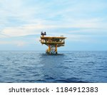 offshore oil and gas rig...   Shutterstock . vector #1184912383