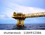 offshore oil and gas rig...   Shutterstock . vector #1184912386