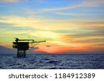 offshore oil and gas rig...   Shutterstock . vector #1184912389