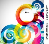 abstract background with vector ... | Shutterstock .eps vector #118491394