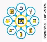 vector illustration of 9 drink... | Shutterstock .eps vector #1184920126