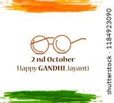 illustration of gandhi jayanti...   Shutterstock .eps vector #1184923090