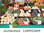 different fresh and colorful... | Shutterstock . vector #1184923609