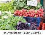 different fresh and colorful... | Shutterstock . vector #1184923963