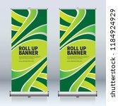 roll up banner design template  ... | Shutterstock .eps vector #1184924929