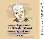 illustration of lal bahadur... | Shutterstock .eps vector #1184927689