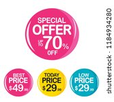 sale and special offer tag ... | Shutterstock .eps vector #1184934280