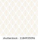 geometric trendy leaves vector... | Shutterstock .eps vector #1184935096