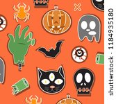 halloween pattern background... | Shutterstock .eps vector #1184935180