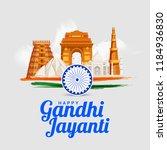 illustration of gandhi jayanti... | Shutterstock .eps vector #1184936830