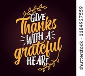 give thanks with a grateful... | Shutterstock .eps vector #1184937559