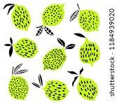 lime vector citrus fruit set.... | Shutterstock .eps vector #1184939020