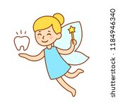 cute little tooth fairy with... | Shutterstock .eps vector #1184946340