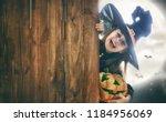happy halloween  cute little... | Shutterstock . vector #1184956069