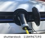 closeup of electric modern car... | Shutterstock . vector #1184967193