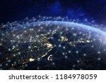 asian telecommunication network ... | Shutterstock . vector #1184978059