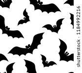 halloween pattern with black... | Shutterstock .eps vector #1184992216