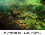 the green bottom of the stony... | Shutterstock . vector #1184992990