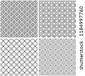 four abstract seamless grids... | Shutterstock .eps vector #1184997760