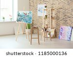 interior of artist's workshop | Shutterstock . vector #1185000136