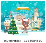 merry christmas and happy new... | Shutterstock .eps vector #1185004510
