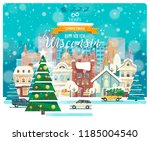 merry christmas and happy new... | Shutterstock .eps vector #1185004540