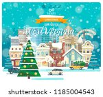merry christmas and happy new...   Shutterstock .eps vector #1185004543