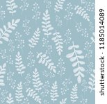 seamless floral pattern with... | Shutterstock .eps vector #1185014089