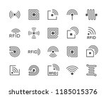 set of vector radio frequency... | Shutterstock .eps vector #1185015376