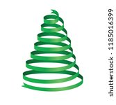 christmas tree 3d isolated on a ... | Shutterstock .eps vector #1185016399