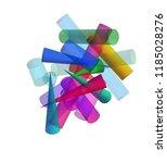 3d geometric color figures ... | Shutterstock . vector #1185028276