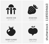 set of 4 editable berry icons....