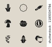 set of 9 editable cooking icons.... | Shutterstock .eps vector #1185034786