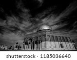 the dome of the rock  ... | Shutterstock . vector #1185036640