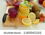 composition with variety of... | Shutterstock . vector #1185042103