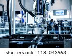 robotic arm at industrial... | Shutterstock . vector #1185043963
