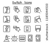 switch icon set in thin line... | Shutterstock .eps vector #1185044533