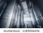 stainless shine reservoirs in a ... | Shutterstock . vector #1185046456