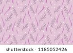 pastel purple leaves seamless... | Shutterstock .eps vector #1185052426