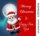 santa claus lettering design  ... | Shutterstock .eps vector #1185066046
