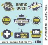 vector set  vintage video game...