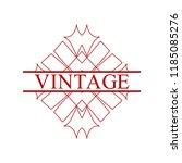 flourishes calligraphic art... | Shutterstock .eps vector #1185085276