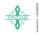 flourishes calligraphic art... | Shutterstock .eps vector #1185085333