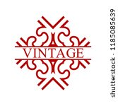 flourishes calligraphic art... | Shutterstock .eps vector #1185085639