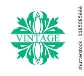 flourishes calligraphic art... | Shutterstock .eps vector #1185085666