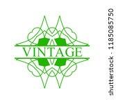 flourishes calligraphic art... | Shutterstock .eps vector #1185085750