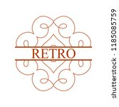flourishes calligraphic art... | Shutterstock .eps vector #1185085759